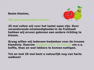 Lievaart Fruit sluiten